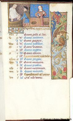 September - Book of Hours - France, Rouen, ca. 1500 - MS M.151 fol. 9r