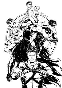 A guest art I did for st00pz's Dick Grayson fanbook :D
