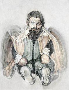 Looking at Velazquez The Dwarf Don Sebastian de Mora by Louis le Brocquy