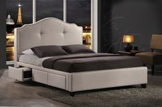 Groupon - Armeena Upholstered Platform Bed with Storage Drawers from $ 499.99–$549.99 in [missing {{location}} value]. Groupon deal price: $499.99
