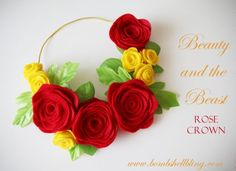 Beauty and the Beast Rose Crown Tutorial