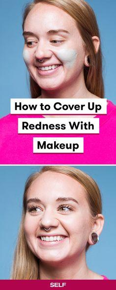 Rosacea Makeup, Corrector Makeup, Acne Makeup, Skin Makeup, Green Color Corrector, Too Faced Concealer, Redness On Face, Glowing Skin Diet, Top