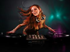 sweet dj girl disco play music please