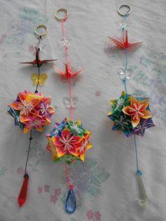 Origami - março de 2013 - Enfeites para o aniversário da norinha Lorena