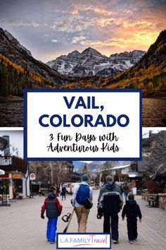 Things you must do with your kids in Vail, Colorado! Have three days, use this guide to find the best activities based on the time we took our boys skiing, snowboarding, ice-skating and snow-shoeing. The best place to stay, the Sonnenalp, for a cozy fun family trip to Vail. Snowboarding, Skiing, Good Day, The Good Place, Vail Colorado, Family Adventure, Three Days, Ice Skating, Family Travel