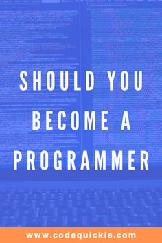 Most people don't know what to expect as programmers. By the end of this article, you'll know what to expect if you want to be a programmer. Learn Programming, Programming Languages, Data Science, Computer Science, Create Website, Web Development, Periodic Table, How To Become, Coding