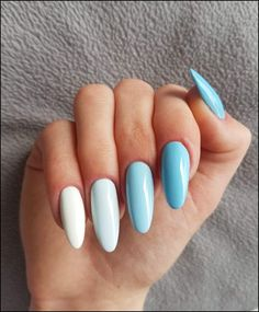 In look for some nail designs and some ideas for your nails? Here's our set of must-try coffin acrylic nails for trendy women. Best Acrylic Nails, Acrylic Nail Designs, Acrylic Summer Nails Almond, Shapes Of Acrylic Nails, Colored Acrylic Nails, Pink Nail Designs, Bright Summer Nails, Spring Nails, Bright Blue Nails