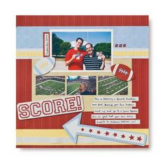 Score This and That #Cricut #Scrapbooking Layout Idea from Creative Memories    www.creativememor...  #scrapbook  #scrapbooking