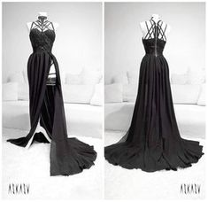 "Polubienia: 5,548, komentarze: 94 – ASKASU (@askasublue) na Instagramie: ""New evening gown #gown #black #dress #lace #chiffon #harness #darkfashion #night #redcarpet…"""