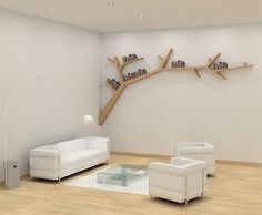 Tree Branch Bookshelf designed by Olivier Dolle