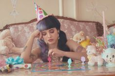 """Melanie Martinez Teases Debut LP 'Cry Baby' With A Delightfully Depressing """"Pity Party"""" Watch Melanie Martinez Birthday, Crybaby Melanie Martinez, Melody Martinez, Melanie Martinez Dollhouse, Pity Party, Cry Baby, Indie, Creative Portraits, Music Artists"""