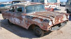 1957 Chevrolet Belair 2 Dr Post Dr Post, Chevy, Junkyard Cars, Barn Garage, Rusty Cars, 1957 Chevrolet, Barn Finds, Abandoned, Antique Cars