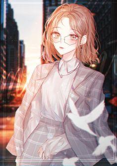 Anime Fox Boy, Kawaii Anime Girl, Anime Art Girl, Manga Girl, Anime Girls, Anime Couples Manga, Cute Anime Couples, Manga Anime, Pretty Anime Girl