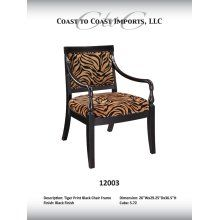 Coast to Coast Imports, Llc 12003 Mandore Tiger Print Side Chair