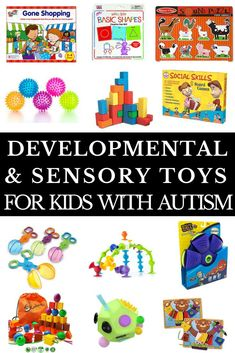 Autism Toy Gift Guide Looking for toys for your toddler or school aged kid with autism, sensory processing disorder or other special need? This gift guide is full of ideas! Whether you're looking for developmental toys to increase fine and gross motor skills, hand-eye coordination, social skills and language development or you need the best sensory toys for autism, this collection of fun learning toys, games, and fidgets are worth the investment! #autismtoys #autism #ASD #SPD #specialneeds