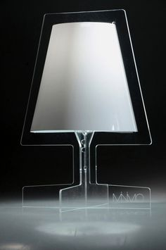 Unique and Modern Lamp with Transparent Base