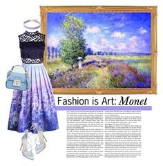 """Fashion is art: Monet"" by keepfashion92 ❤ liked on Polyvore featuring Chicwish, Boohoo, Vanessa Mooney, Steve Madden and River Island"
