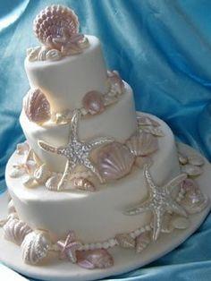 seashells Wedding Cakes Decorated