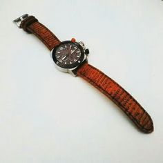 Leather strap watch of lizard skin leather, size 24 mm.  Long strap 13 cm and 8 cm.  Www.jualtaskulit. com +6285642717764  #leatherstrap #stingrayleather #pekalongan #exotic #jamtanganwanita #jam #jamtangan #jamtangandw #jambranded #jamcasio #jamexpedition #jameiger #jamalexandrechristie #whiteblue