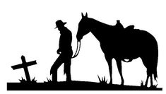Cowboy, horse and crossCrosses Stencils, Except, Metal Art Silhouettes . Horse Silhouette, Silhouette Clip Art, Silhouette School, Silhouette Images, Western Crafts, Western Art, Cowboy Art, Cowboy Horse, Wood Burning Patterns
