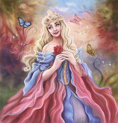 Sleeping Beauty- Princess Aurora with beautiful butterflies Disney Artwork, Disney Fan Art, Disney Drawings, Disney Love, Disney Magic, Dark Disney, Disney Style, Sleeping Beauty Maleficent, Disney Sleeping Beauty