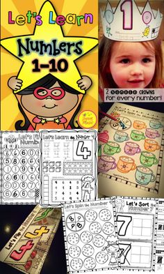 Teach your students about numbers with this 170 page number bundle filled with easy to use printables, including number mazes, number sorts, number crowns and number printing practice pages. $