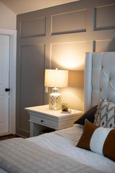 bedroom ideas with accent wall bedroom design cozy accent walls Master Bedroom Makeover, Master Bedroom Design, Master Bedrooms, Basement Master Bedroom, Master Bedroom Plans, Master Master, Shiloh, Accent Wall Bedroom, Gray Accent Walls