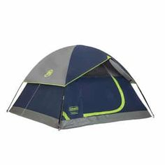 Blocking of sunlight and offering bug-free lounging, the Coleman Sundome Dark Room Tent provides a comfortable night's sleep in any terrain. This durable tent is big enough to hold 4 people and fit 1 queen air mattress. Best Tents For Camping, Tent Camping, Camping Gear, Camping Hacks, Backpacking, Camping Cabins, Camping Guide, Camping Supplies, Beach Camping
