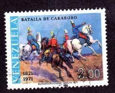 VENEZUELA, yr.1971:  BATTLE OF CARABOBO , #980,U