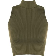 A fashion look from February 2017 featuring cropped shirts, knee length skirts and leather booties. Browse and shop related looks. Sleeveless Turtleneck Top, Green Turtleneck, Turtleneck Shirt, Ribbed Turtleneck, Sleeveless Crop Top, Cropped Sweater, Brown Sweater, Crop Top And Shorts, Crop Shirt