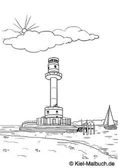 Friedrichsorter Leuchtturm / Kiel-Malbuch.de