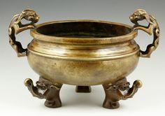 Auctions | 2506 - Chinese Bronze Censer | Kaminski Auctions