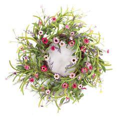 Outside Diameter 30CM No Powder Ocamo Lifelike Artificial Wreath Flowers Door Hanging Wall Window Decoration Wedding Party Christmas Decor 11.8 Diameter F