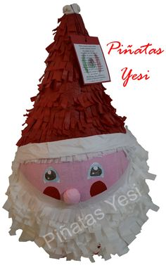 Piñata Artesanal hecha a mano de Papa Noel.