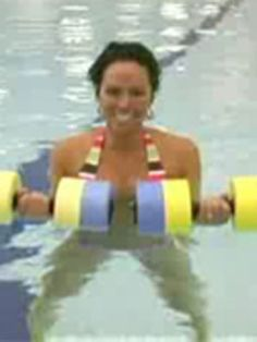 Water Aerobics Exercise: Tricep Curls