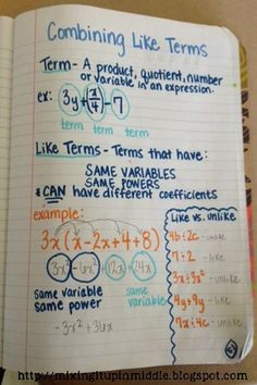 Fun with Algebra! Our Introduction Week! Great for ideas on Interactive Notebook entries and games.