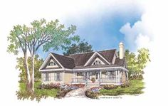 Modest, yet Appealing (HWBDO07564) | Country House Plan from BuilderHousePlans.com