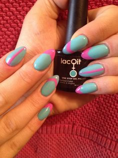 LacQit colors run for the pink and in a blue streak . Www.LacQit.com
