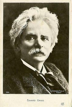 Edvard Grieg portrett utg Stenders Forlag