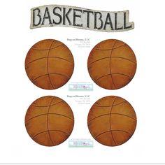 Basketball Sports Wall Stickers {5 Piece} :