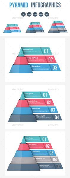 Pyramid Infographics Template PSD, Vector EPS, AI Illustrator