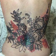 Beginnings of something grand with Roni. Super fun working with NSW Australian… Venus, Tan Vans, Australian Flowers, Cool Tattoos, Awesome Tattoos, Fun At Work, Little White, Pansies, Tattoo Inspiration