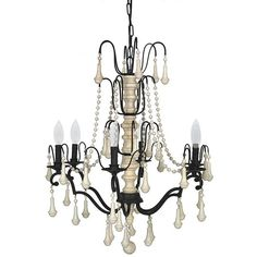 Pelham Chandelier (900 CAD) ❤ liked on Polyvore featuring home, lighting, ceiling lights, teardrop lamp, home decorators collection, teardrop chandelier, beaded chandelier and tear drop lights
