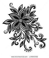 black and white flower design - Google Search