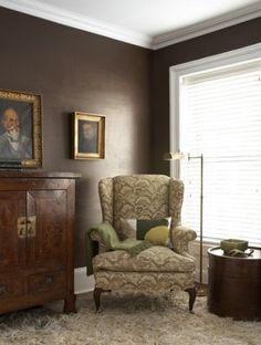 Behr S Bison Brown Used On Walls Dark Paint Wall Colors