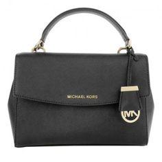 86ab35e39dfc Michael Kors Tasche – Ava SM TH Satchel Black – in schwarz – Henkeltasche  für Damen