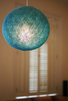 Turquoise LampshadeCable and Cotton