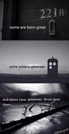 Sherlock Doctor Who Harry Potter