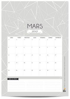 zü: Calendrier 2013 DIY - MARS