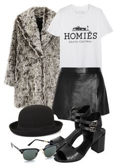"""Untitled #4413"" by beautifuleleanorjane ❤ liked on Polyvore featuring Proenza Schouler, Brian Lichtenberg, Jonathan Simkhai, BCBGMAXAZRIA, Topshop and Ray-Ban"